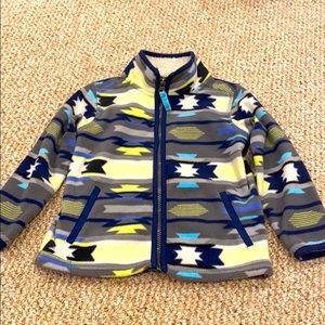 5/$25 😎Beautiful Aztec print Zip Up Fleece 3T